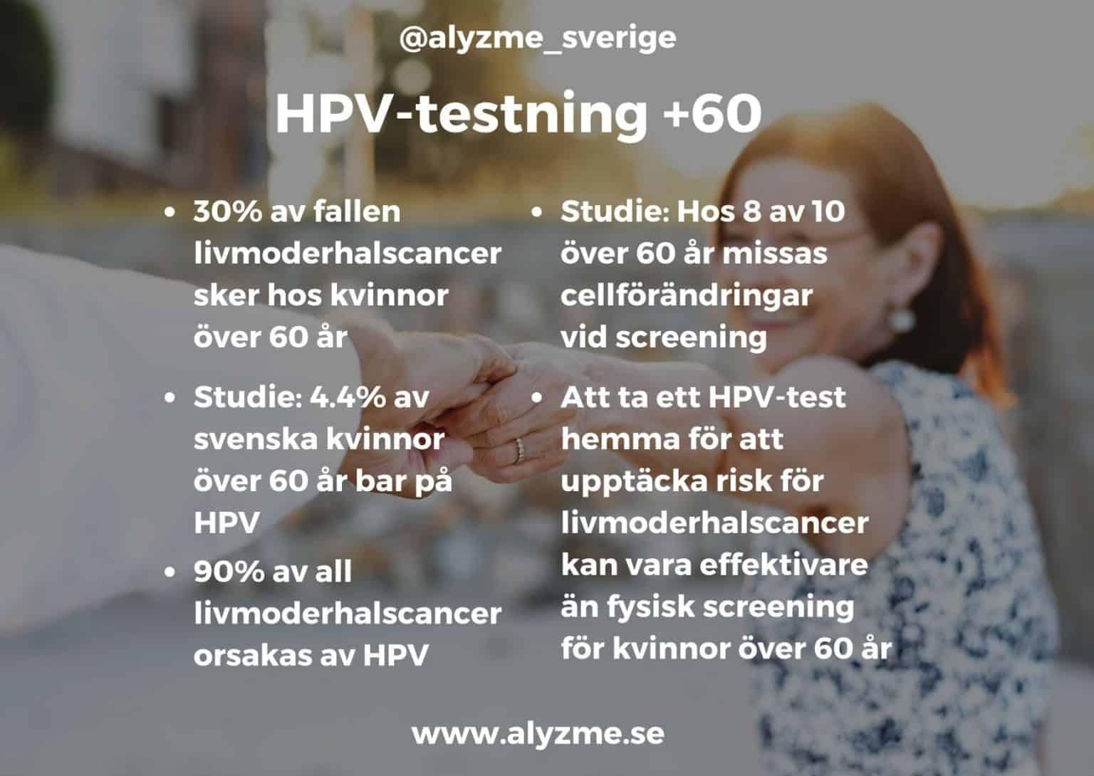 Självtest HPV-test livmoderhalscancer cancertest cellförändringar