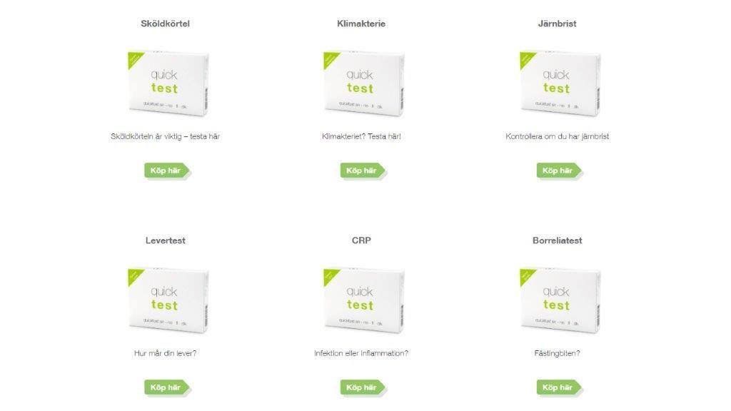Quicktest har en rad självtest du tar hemma och får svar direkt - www.alyzme.se hälsotest hemma