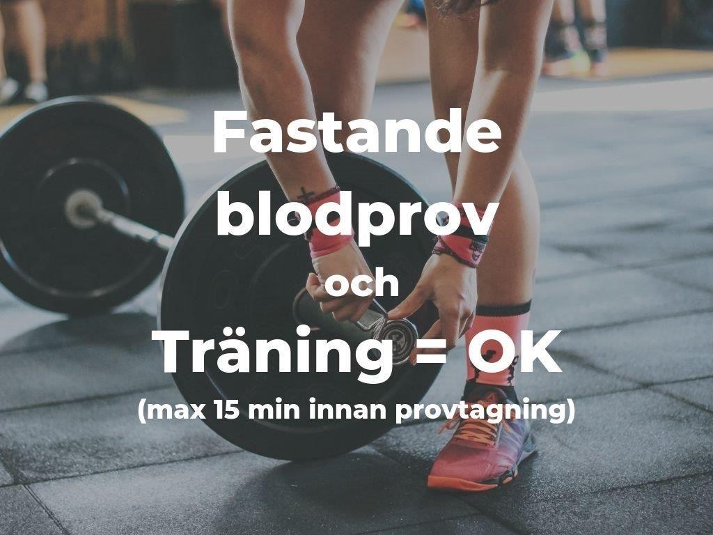 Ta fastande blodprov och träning - ta max 15 minuter innan provtagning - Alyzme.se listar självtester