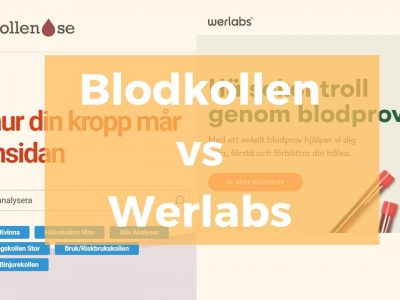 Blodkollen eller Werlabs – Största Jämförelsen