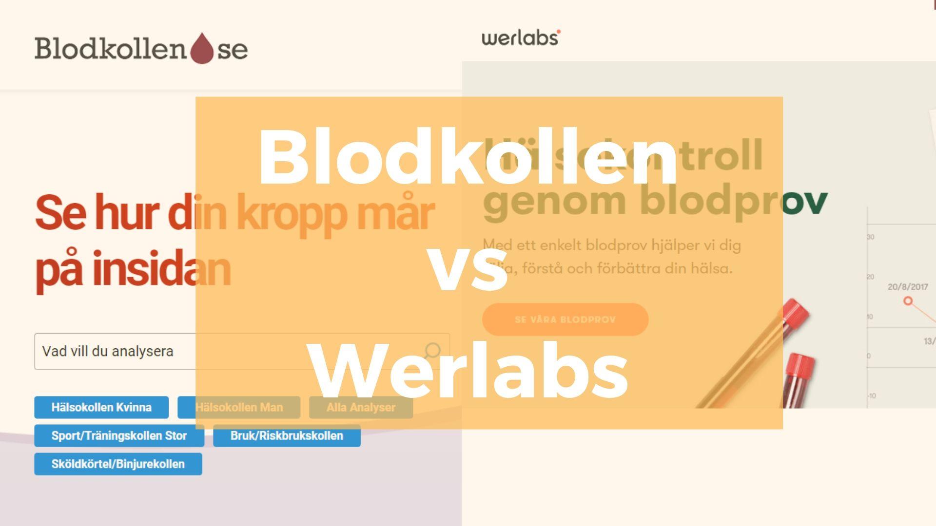 Blodkollen vs Werlabs - Alyzme.se jämför självtester online - självtest, blodprov, hudprov, hälsocenter, hälsoappar - testa din hälsa hemma