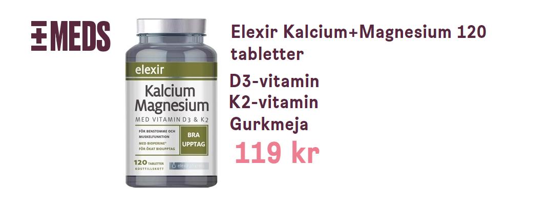 bästa D vitamin kosttillskott med k2 magensium kalcium och gurkmeja