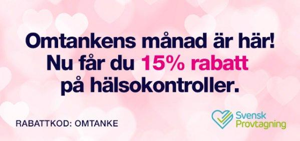 Svensk Provtagning Kampanj med rabattkod