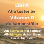 Lista alla test vitamin D självtest blodprov DNA-test beställa köpa hem idag - alyzme.se testa dig hemma